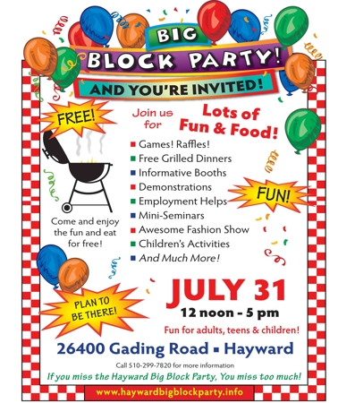Hayward seventh day adventist church news big block for Block party template flyers free
